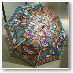 David Holmes hand-painted umbrella