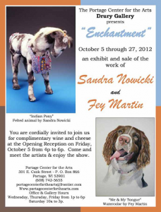 Sandra Nowicki exhibit at The Portage Center for the Arts