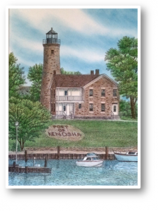 Port of Kenosha – Original Hand Colored Limited Edition