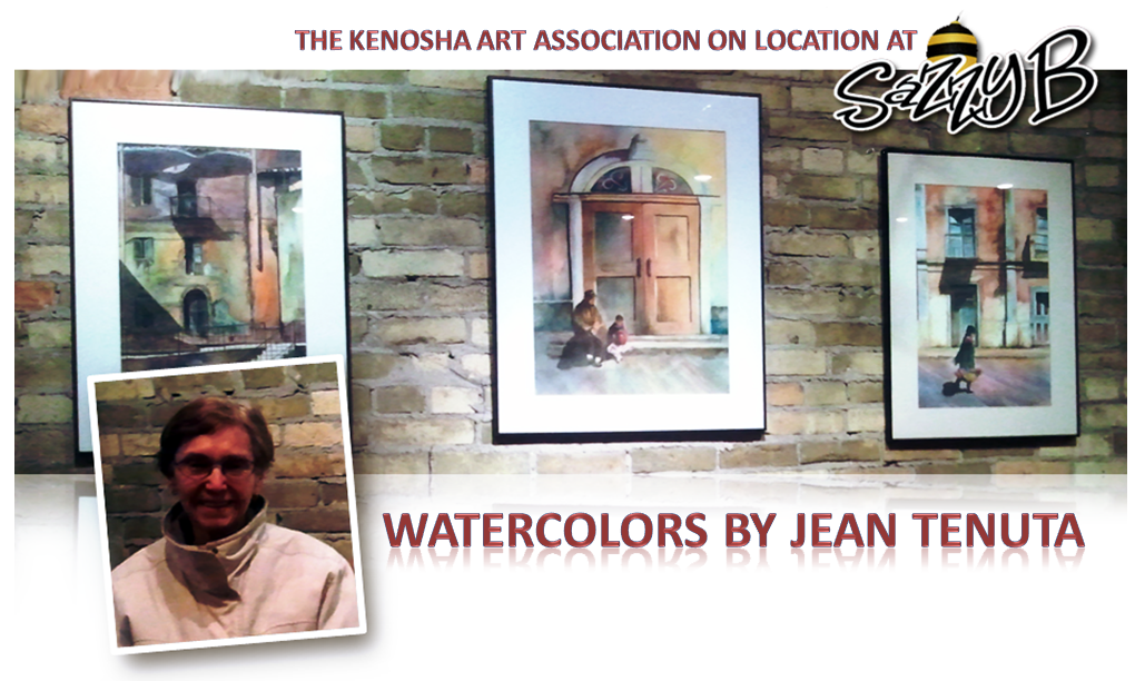 Watercolor Art of Jean Tenuta on display at Sazzy B